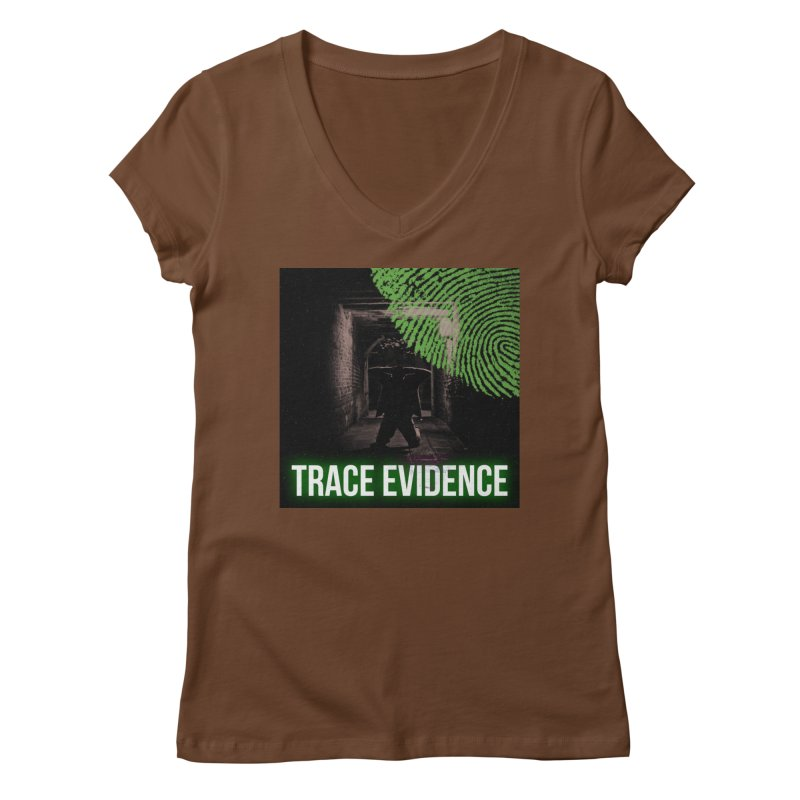 Green Logo Women's Regular V-Neck by Trace Evidence - A True Crime Podcast