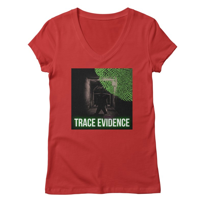 Green Logo Women's V-Neck by Trace Evidence - A True Crime Podcast