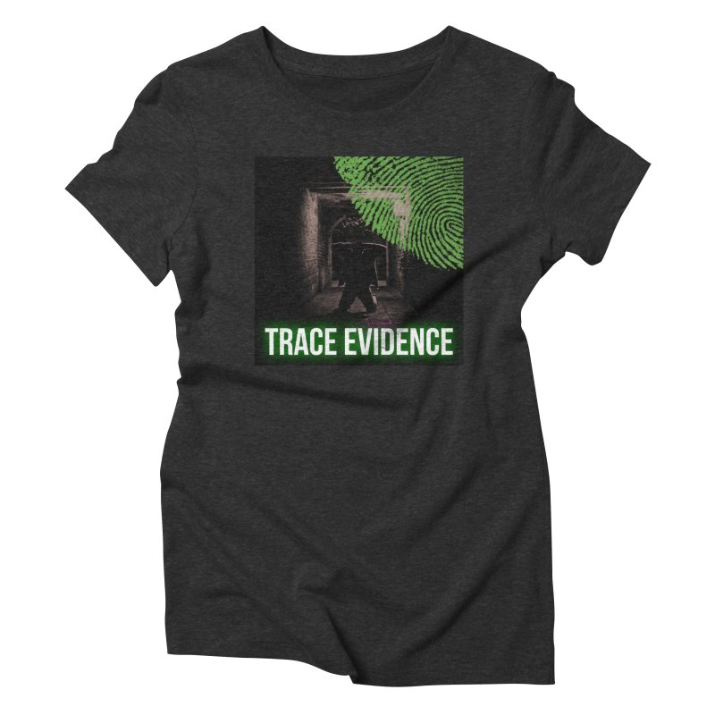 Green Logo Women's Triblend T-Shirt by Trace Evidence - A True Crime Podcast