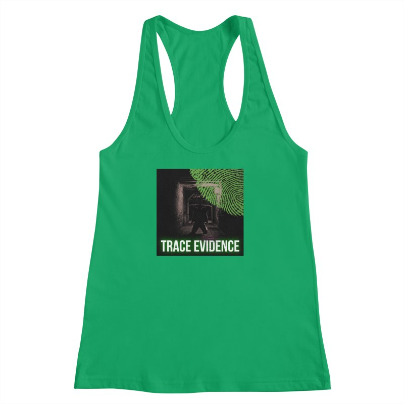 Green Logo Women's Tank by Trace Evidence - A True Crime Podcast