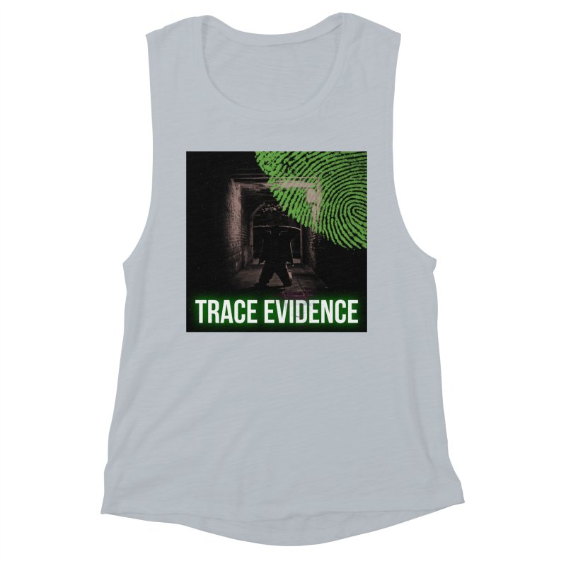 Green Logo Women's Muscle Tank by Trace Evidence - A True Crime Podcast