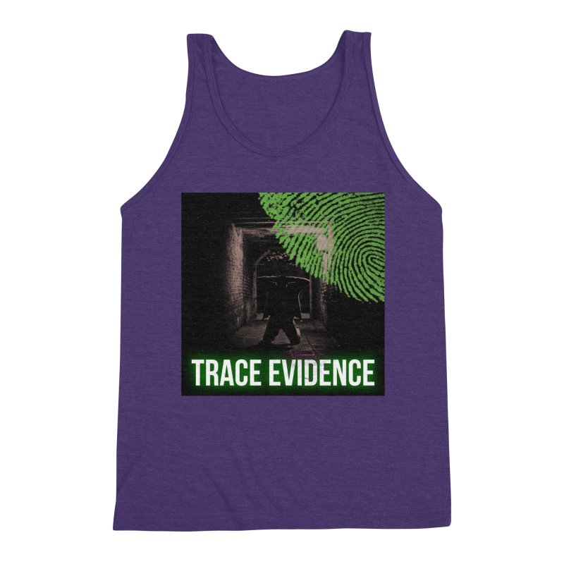 Green Logo Men's Triblend Tank by Trace Evidence - A True Crime Podcast