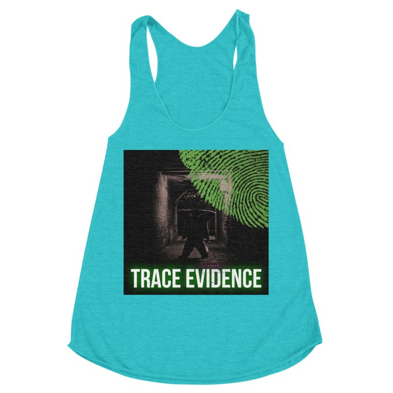 Green Logo Women's Racerback Triblend Tank by Trace Evidence - A True Crime Podcast