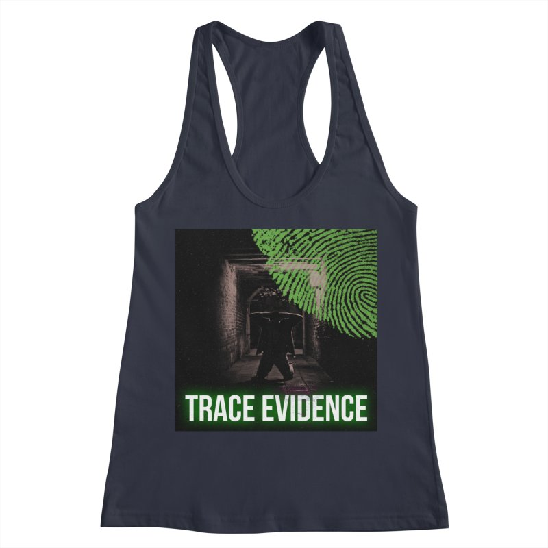 Green Logo Women's Racerback Tank by Trace Evidence - A True Crime Podcast