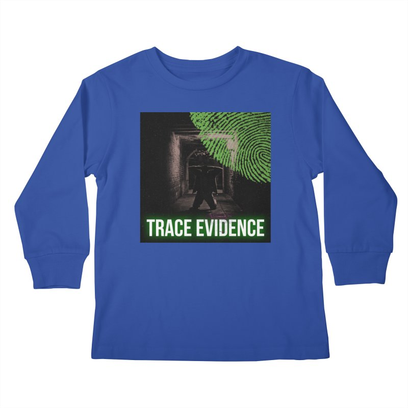 Green Logo Kids Longsleeve T-Shirt by Trace Evidence - A True Crime Podcast
