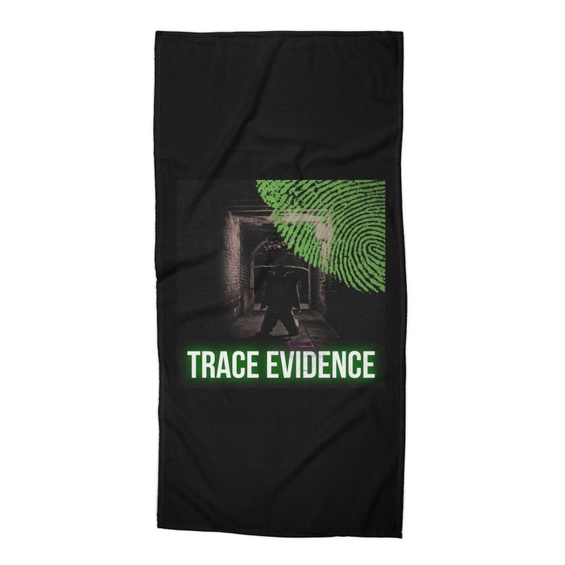 Green Logo Accessories Beach Towel by Trace Evidence - A True Crime Podcast