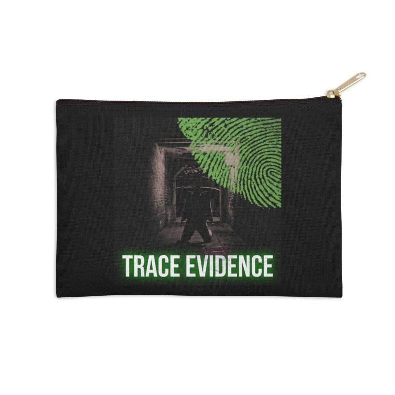 Green Logo Accessories Zip Pouch by Trace Evidence - A True Crime Podcast