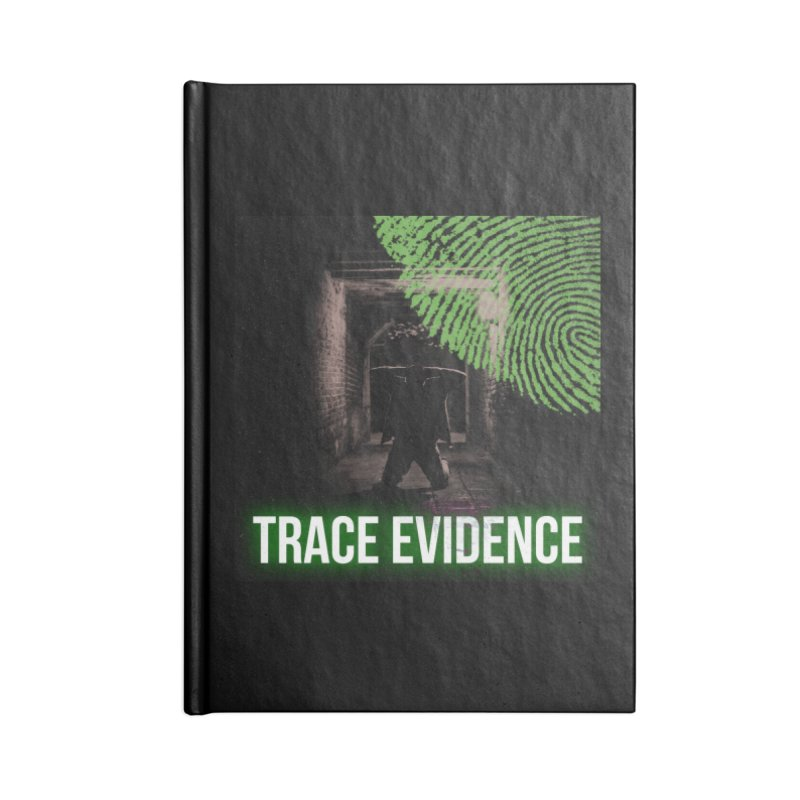Green Logo Accessories Lined Journal Notebook by Trace Evidence - A True Crime Podcast
