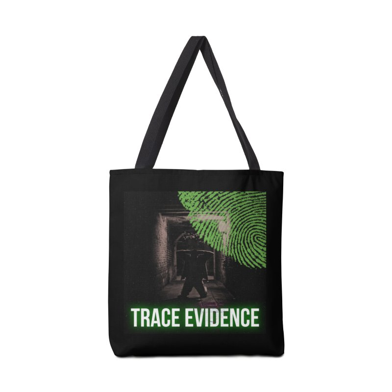 Green Logo Accessories Bag by Trace Evidence - A True Crime Podcast