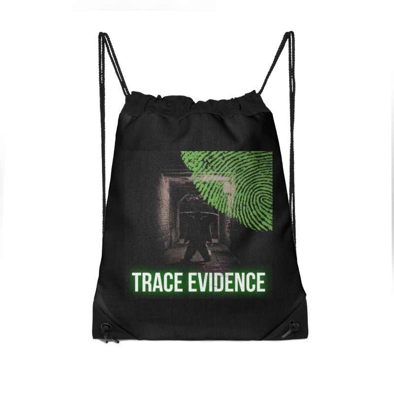 Green Logo Accessories Drawstring Bag Bag by Trace Evidence - A True Crime Podcast