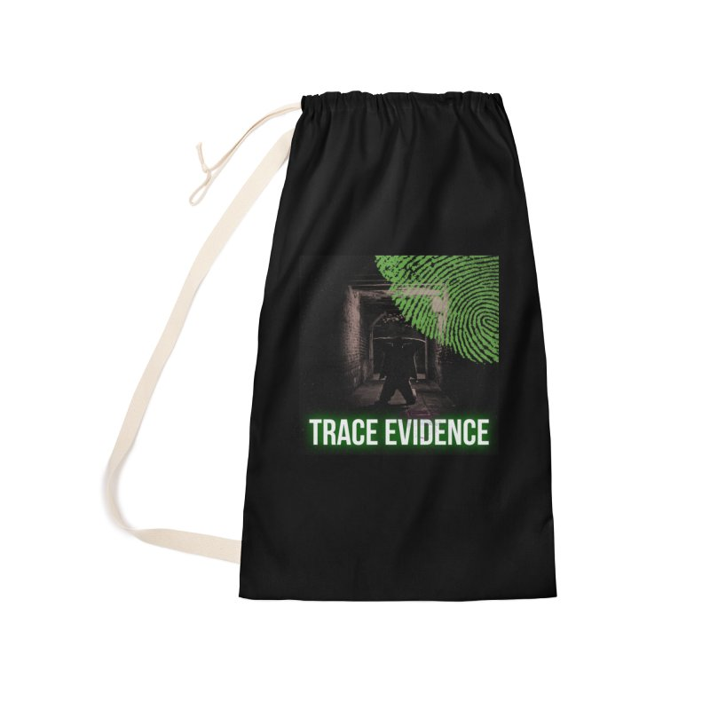 Green Logo Accessories Laundry Bag Bag by Trace Evidence - A True Crime Podcast