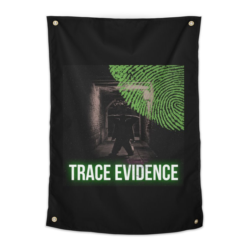 Green Logo Home Tapestry by Trace Evidence - A True Crime Podcast
