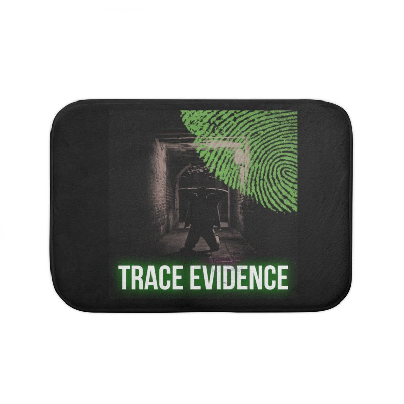 Green Logo Home Bath Mat by Trace Evidence - A True Crime Podcast