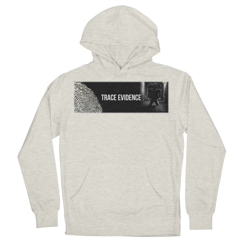 Long Logo Men's French Terry Pullover Hoody by Trace Evidence - A True Crime Podcast