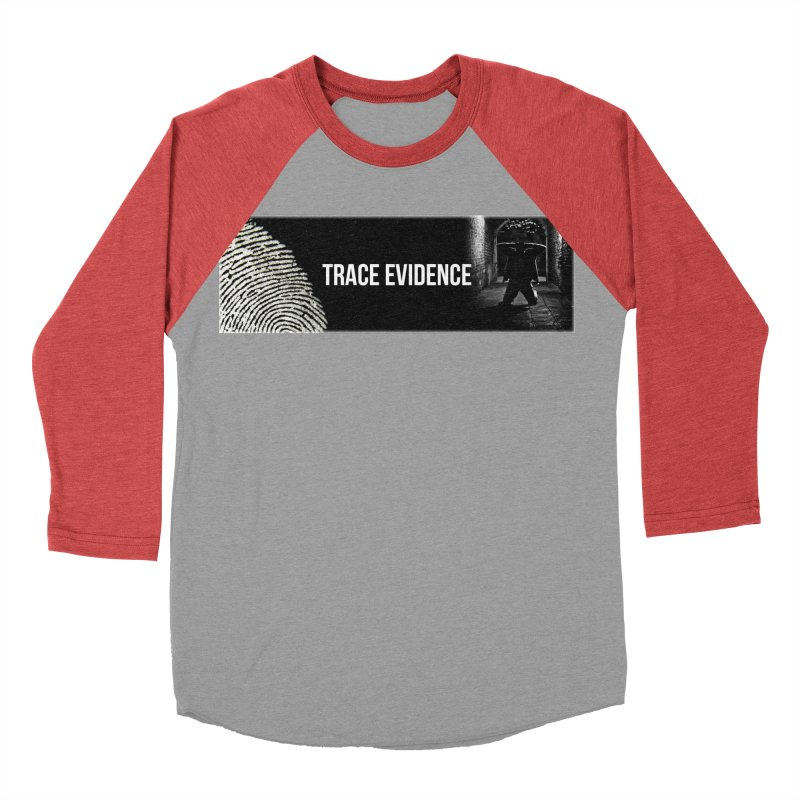 Long Logo Women's Baseball Triblend Longsleeve T-Shirt by Trace Evidence - A True Crime Podcast