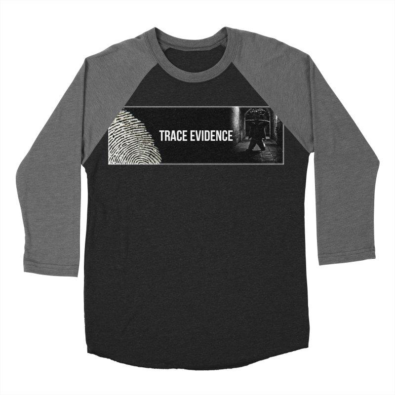 Long Logo Men's Baseball Triblend Longsleeve T-Shirt by Trace Evidence - A True Crime Podcast