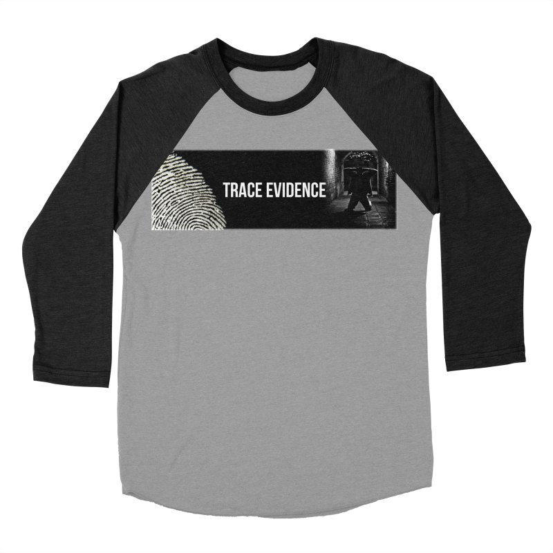Long Logo Men's Baseball Triblend Longsleeve T-Shirt by Trace Evidence - A True Crime Podcast