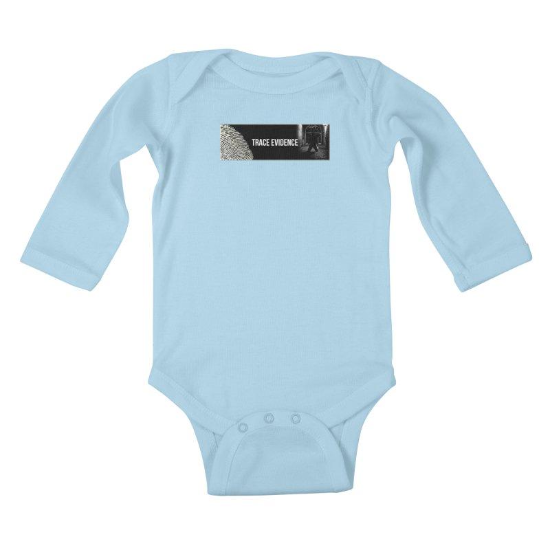 Long Logo Kids Baby Longsleeve Bodysuit by Trace Evidence - A True Crime Podcast
