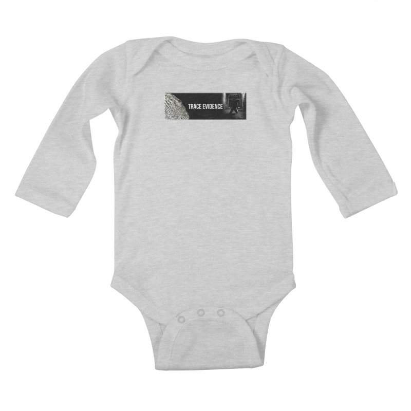 Long Logo Kids Baby Longsleeve Bodysuit by Trace Evidence - A True Crime Podcast