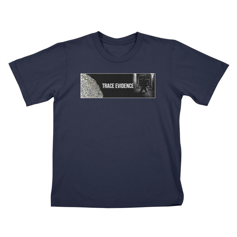 Long Logo Kids T-Shirt by Trace Evidence - A True Crime Podcast