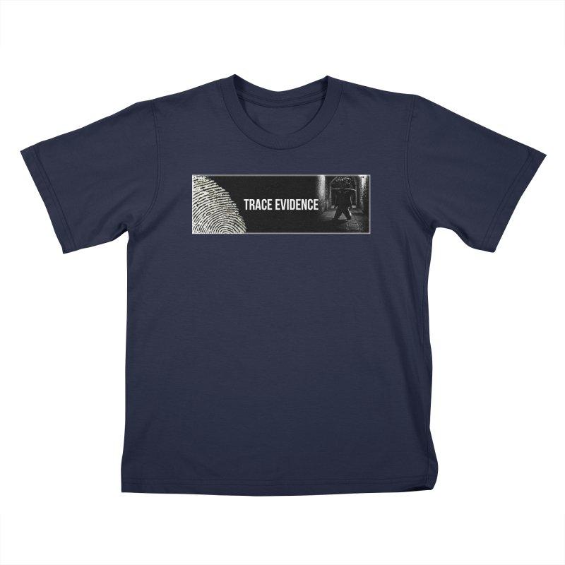 Long Logo Kids T-Shirt by Trace Evidence - A True Crime Podcast