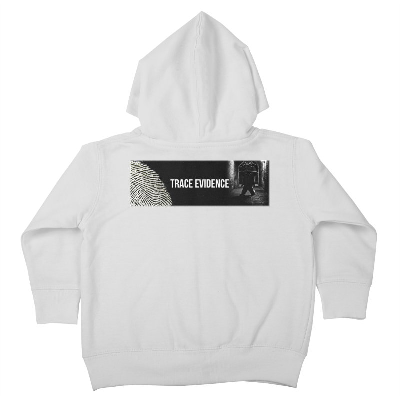 Long Logo Kids Toddler Zip-Up Hoody by Trace Evidence - A True Crime Podcast