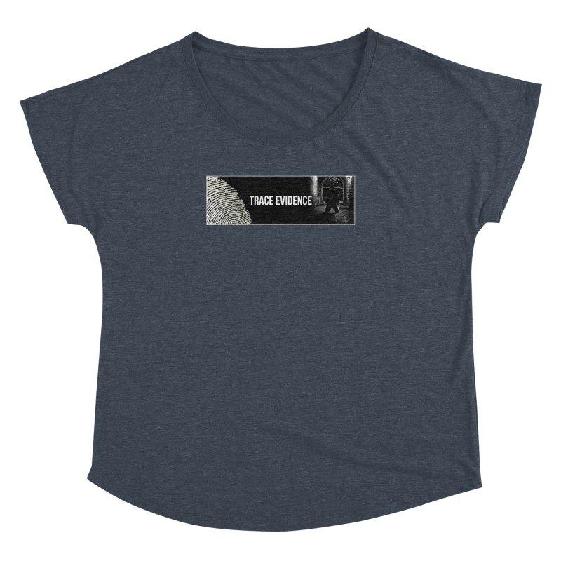 Long Logo Women's Dolman Scoop Neck by Trace Evidence - A True Crime Podcast