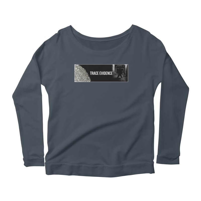 Long Logo Women's Scoop Neck Longsleeve T-Shirt by Trace Evidence - A True Crime Podcast