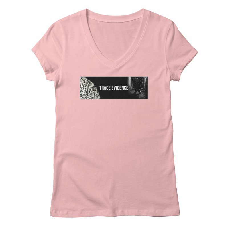 Long Logo Women's Regular V-Neck by Trace Evidence - A True Crime Podcast