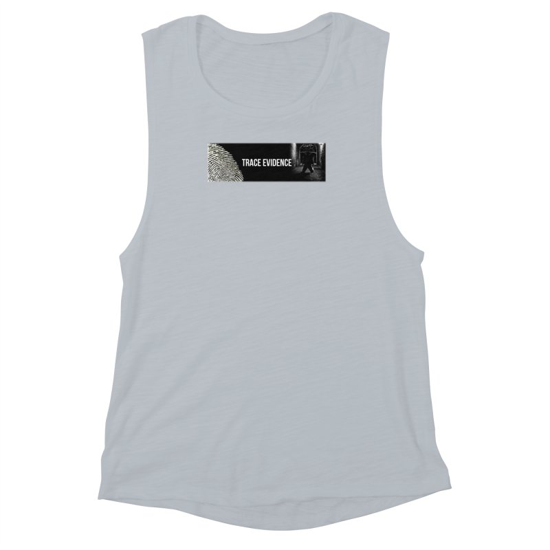 Long Logo Women's Muscle Tank by Trace Evidence - A True Crime Podcast