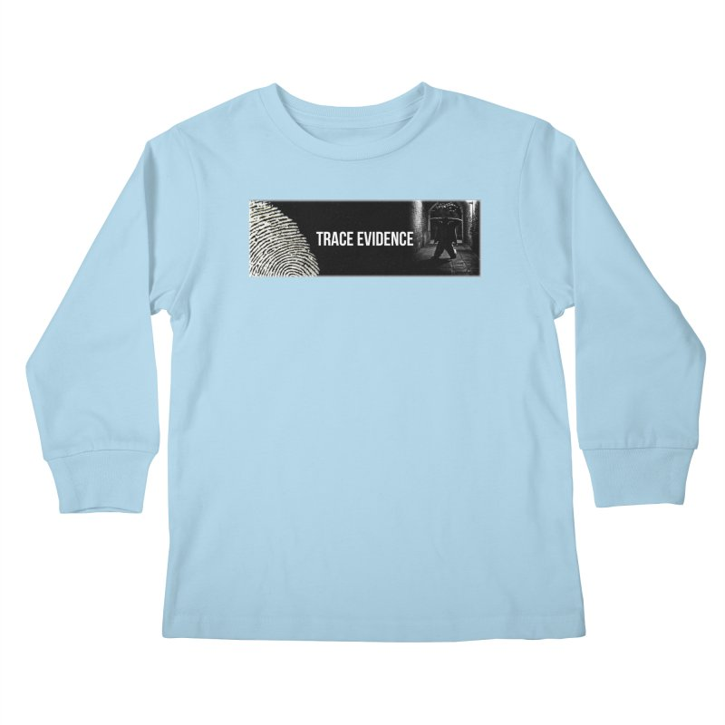 Long Logo Kids Longsleeve T-Shirt by Trace Evidence - A True Crime Podcast
