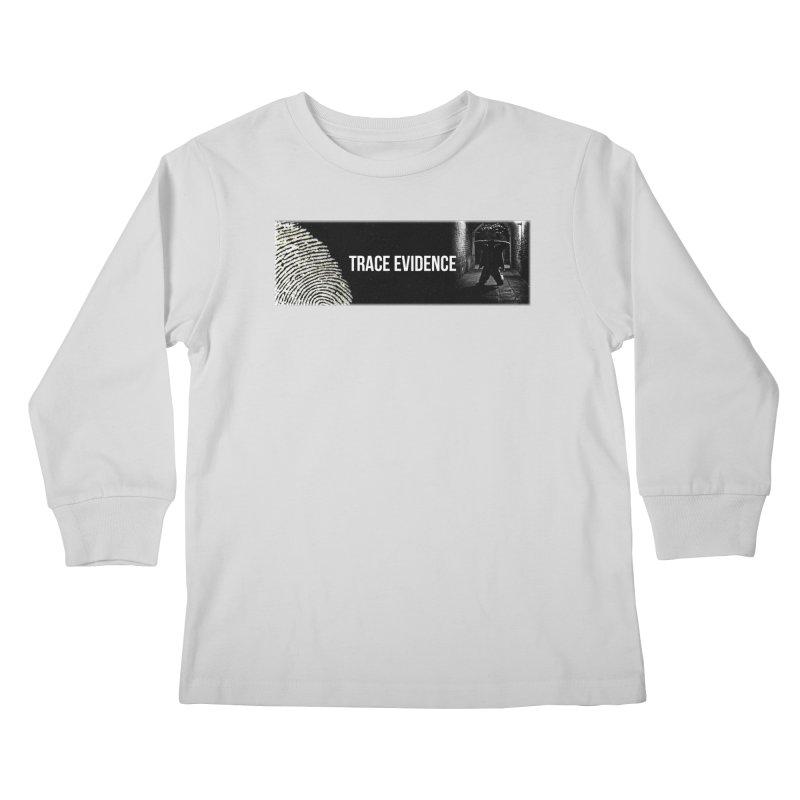 Long Logo Kids Longsleeve T-Shirt by Trace Evidence - A True Crime Podcast
