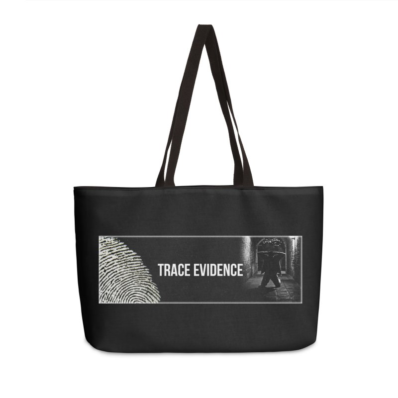 Long Logo Accessories Weekender Bag Bag by Trace Evidence - A True Crime Podcast