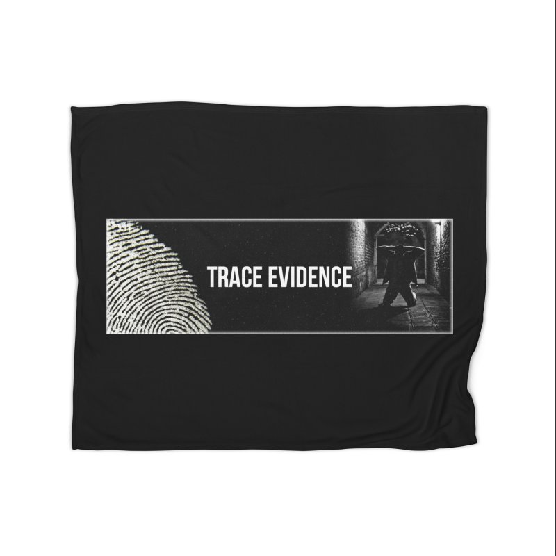 Long Logo Home Fleece Blanket Blanket by Trace Evidence - A True Crime Podcast