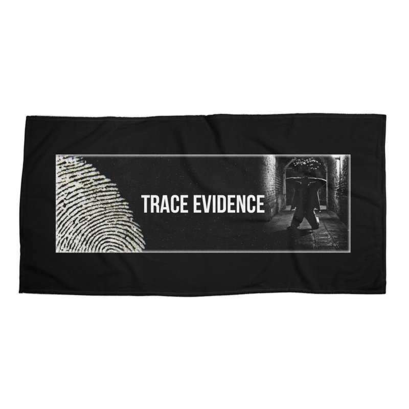 Long Logo Accessories Beach Towel by Trace Evidence - A True Crime Podcast