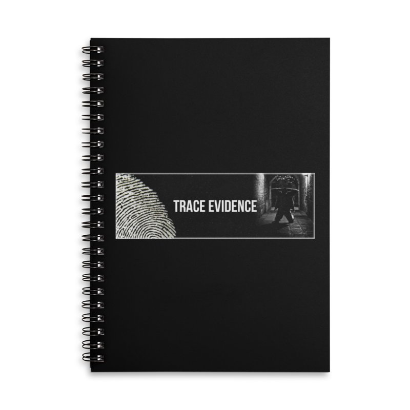 Long Logo Accessories Notebook by Trace Evidence - A True Crime Podcast