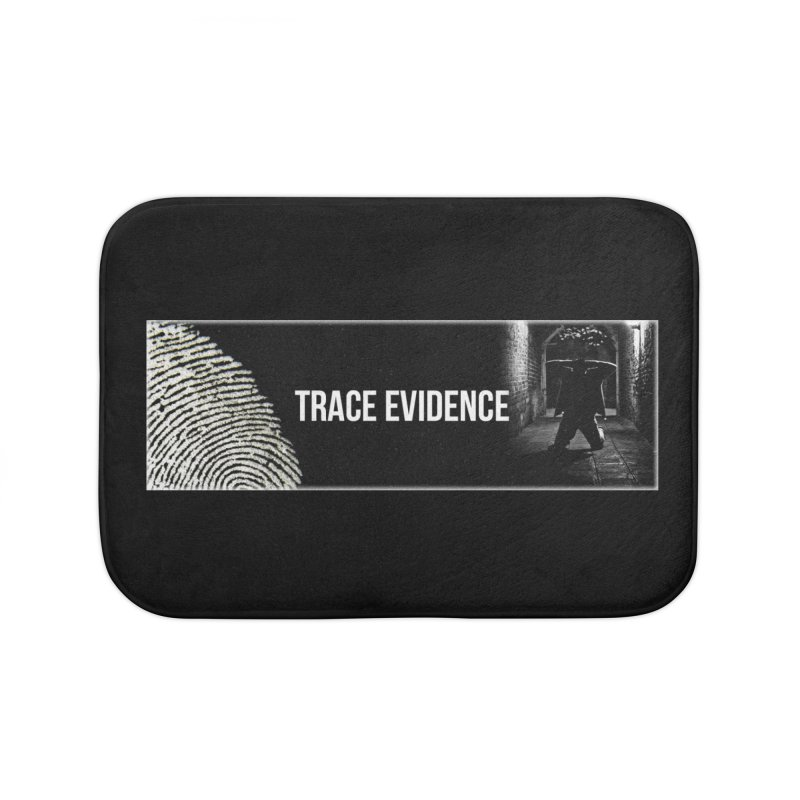 Long Logo Home Bath Mat by Trace Evidence - A True Crime Podcast
