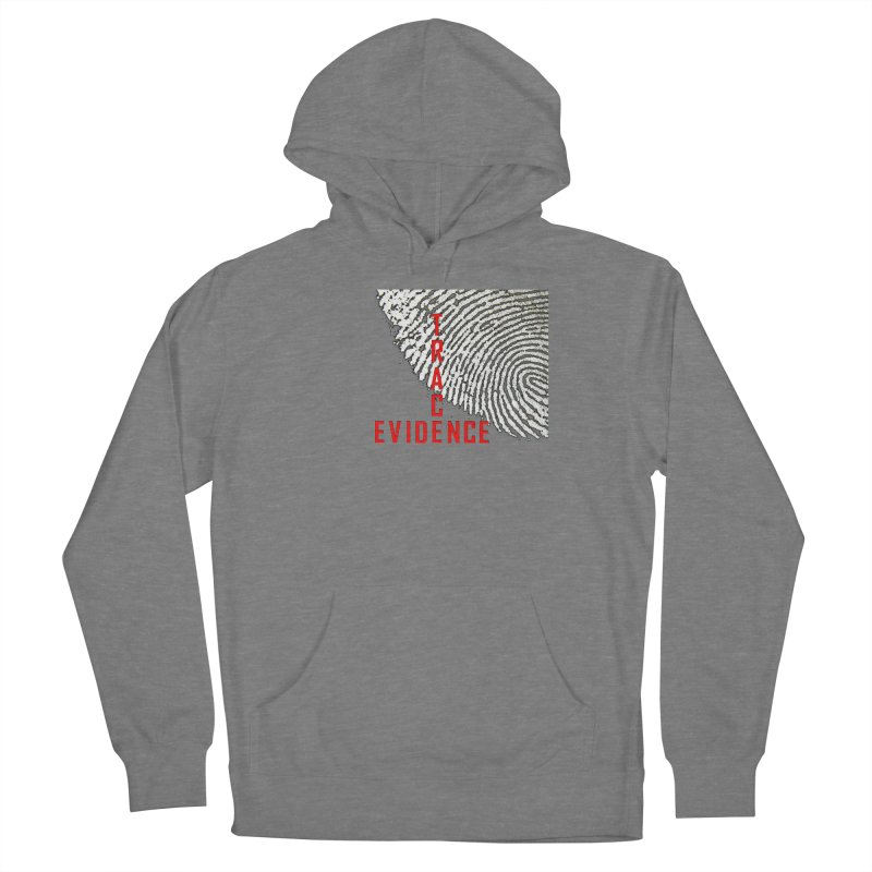 Text Logo - Red Women's Pullover Hoody by Trace Evidence - A True Crime Podcast