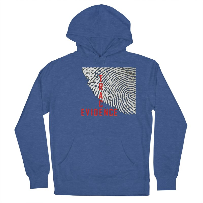 Text Logo - Red Women's French Terry Pullover Hoody by Trace Evidence - A True Crime Podcast