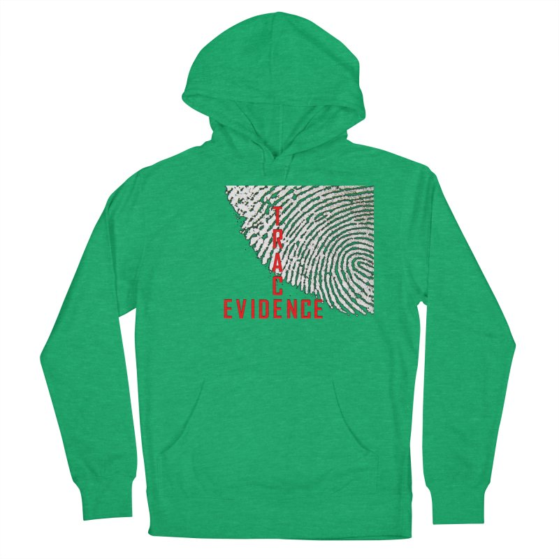 Text Logo - Red Men's French Terry Pullover Hoody by Trace Evidence - A True Crime Podcast