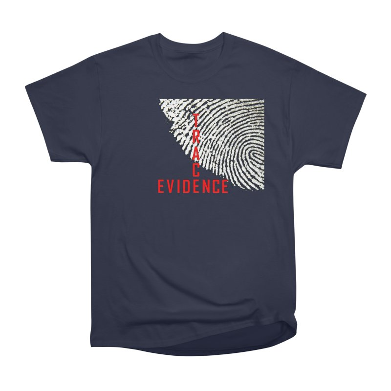Text Logo - Red Men's Heavyweight T-Shirt by Trace Evidence - A True Crime Podcast