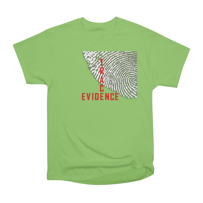 Text Logo - Red Women's Heavyweight Unisex T-Shirt by Trace Evidence - A True Crime Podcast