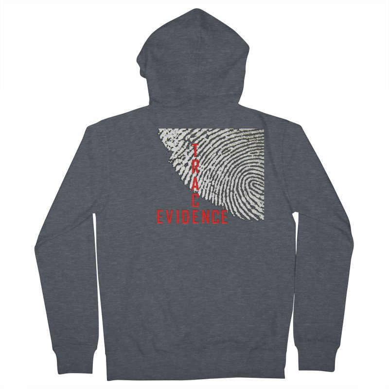Text Logo - Red Women's French Terry Zip-Up Hoody by Trace Evidence - A True Crime Podcast