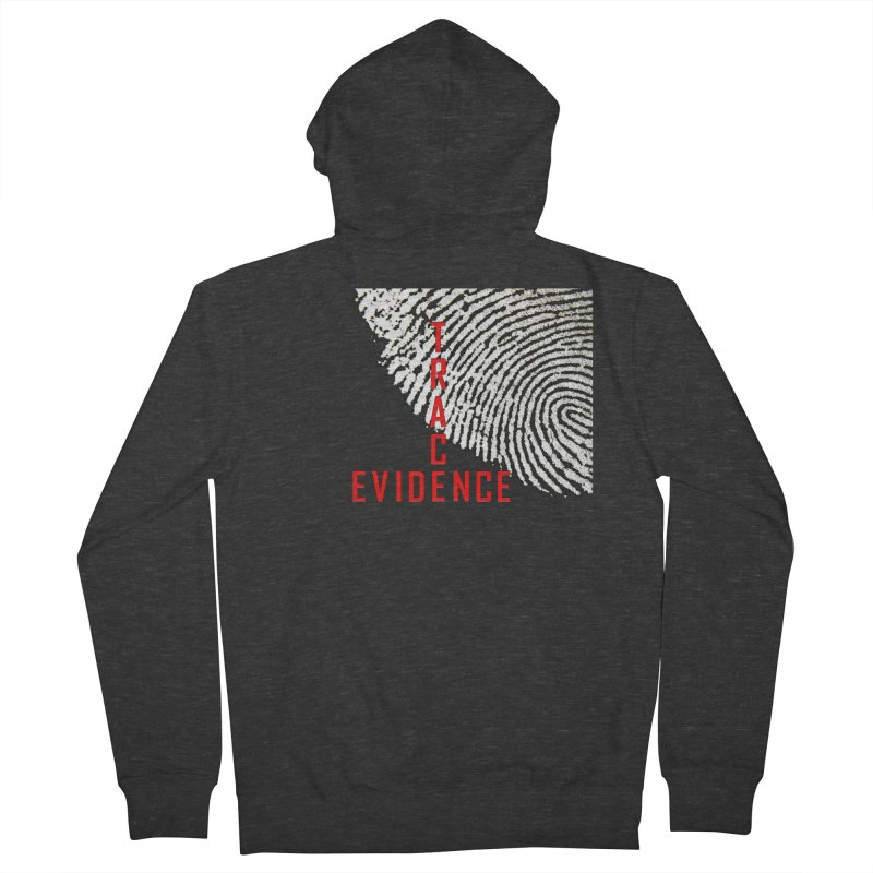 Text Logo - Red Men's French Terry Zip-Up Hoody by Trace Evidence - A True Crime Podcast