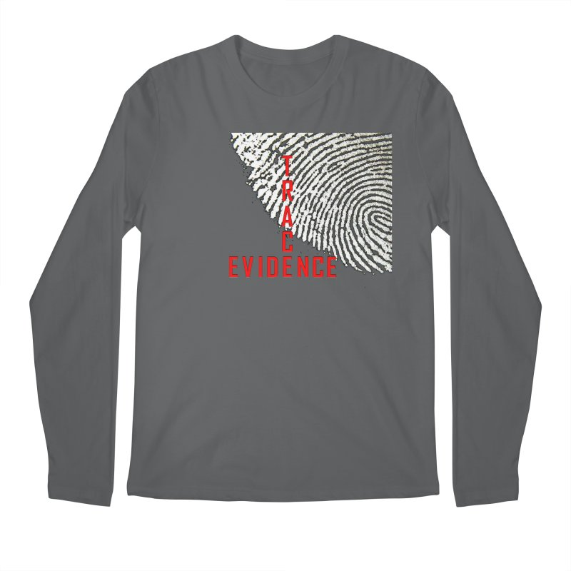 Text Logo - Red Men's Longsleeve T-Shirt by Trace Evidence - A True Crime Podcast