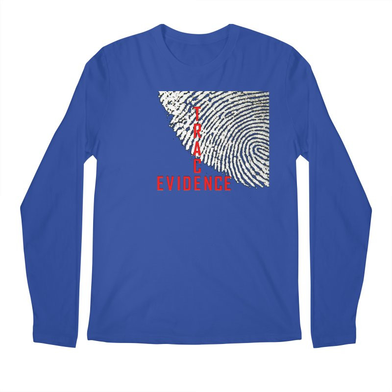 Text Logo - Red Men's Regular Longsleeve T-Shirt by Trace Evidence - A True Crime Podcast