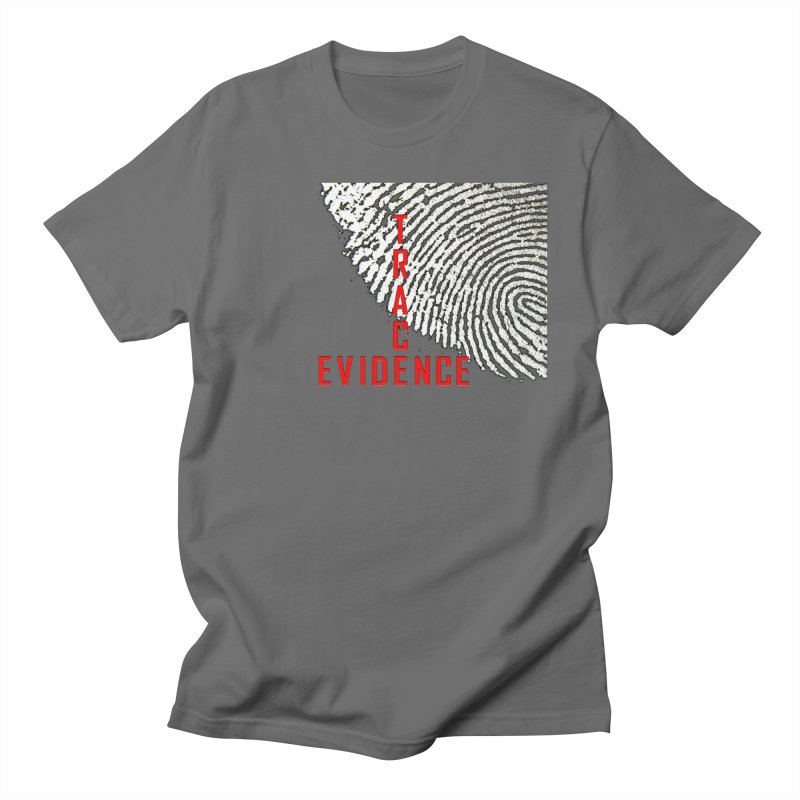 Text Logo - Red Men's T-Shirt by Trace Evidence - A True Crime Podcast