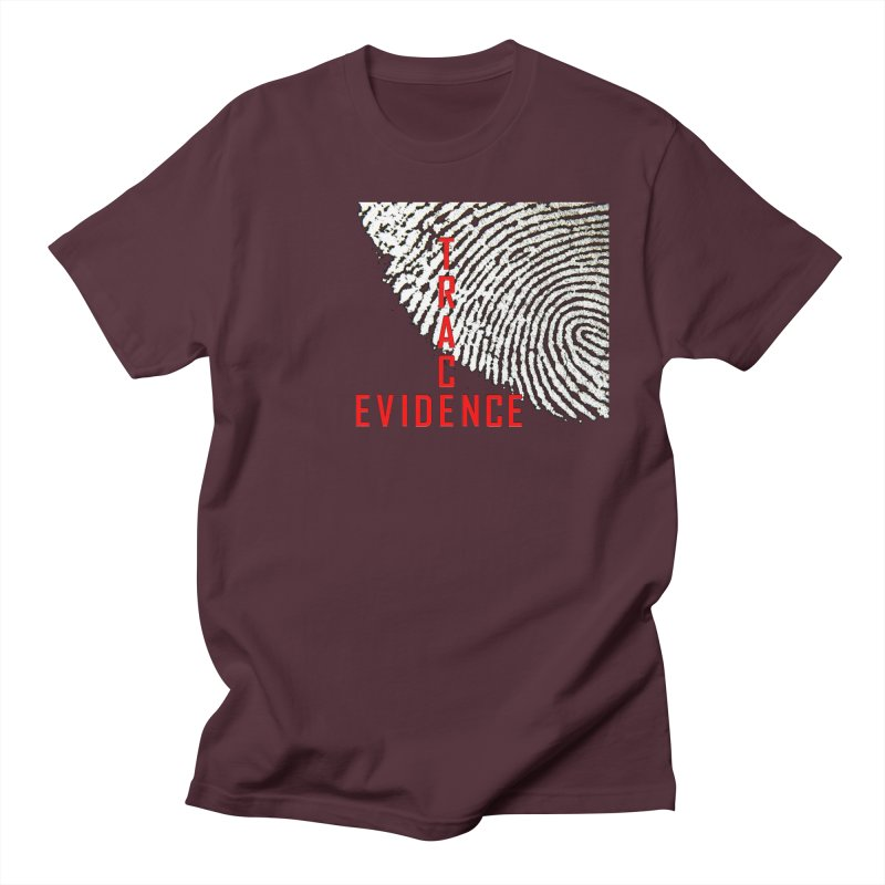 Text Logo - Red Women's Regular Unisex T-Shirt by Trace Evidence - A True Crime Podcast