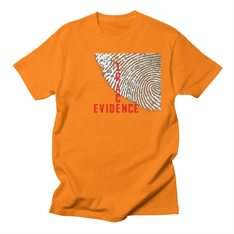 Text Logo - Red Men's Regular T-Shirt by Trace Evidence - A True Crime Podcast