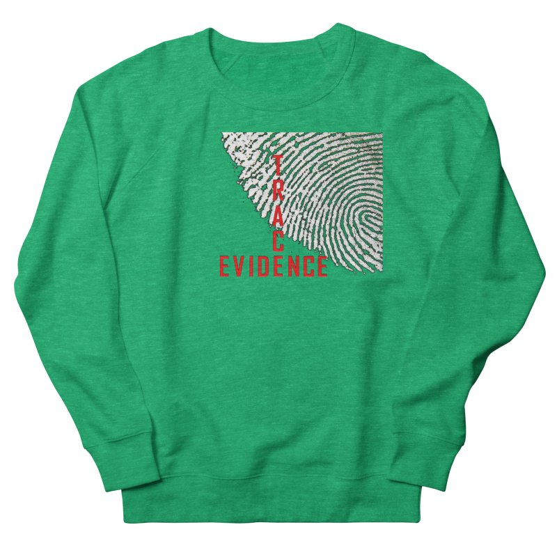 Text Logo - Red Women's Sweatshirt by Trace Evidence - A True Crime Podcast